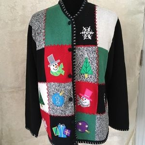 Iconic Ugly Christmas Sweater L
